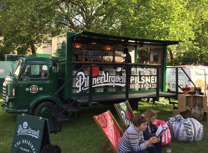 Pilsner Urquell bar truck vehicle conversion