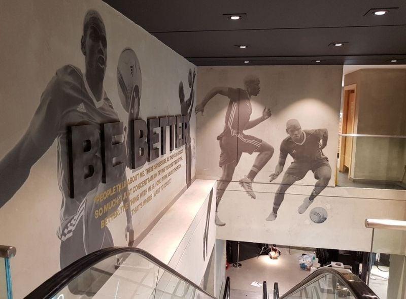 Adidas retail store wall wrap