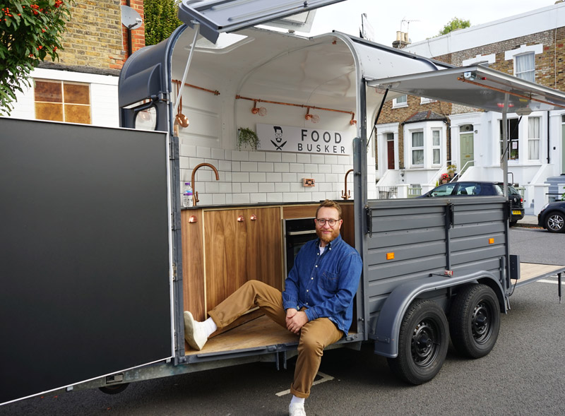 Food Busker John Quilter with his converted food truck