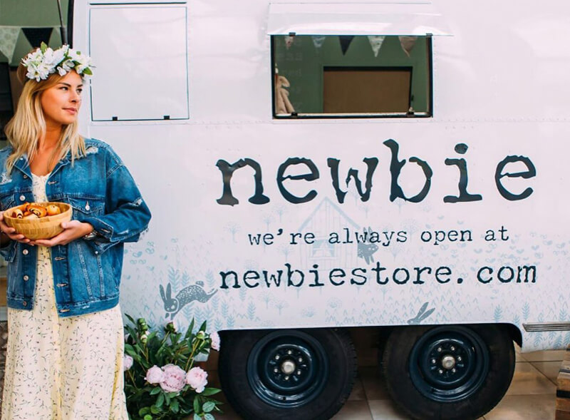 Newbie pop-up store using Airstream trailer hire