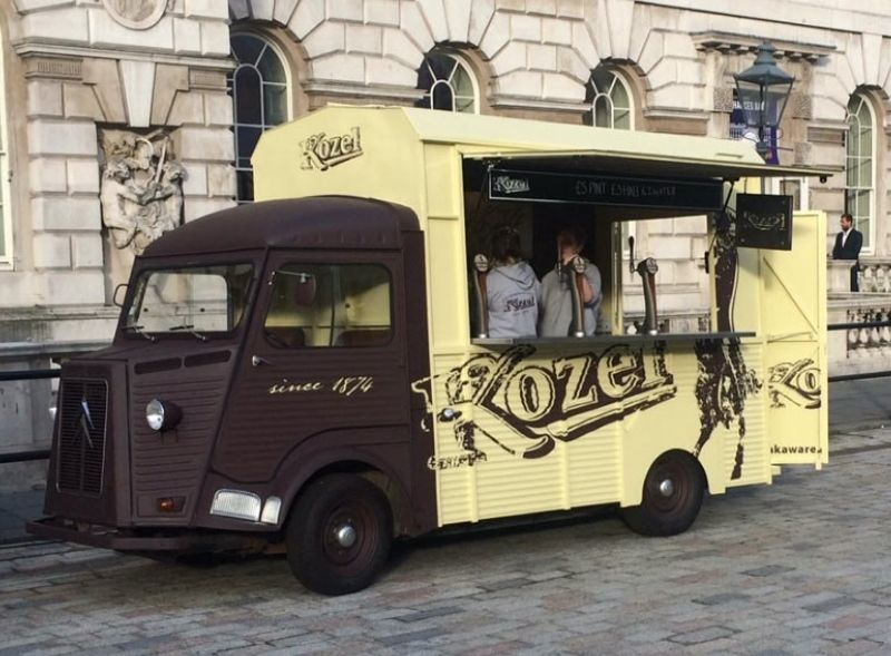 Kozel drinks sampling H-Van
