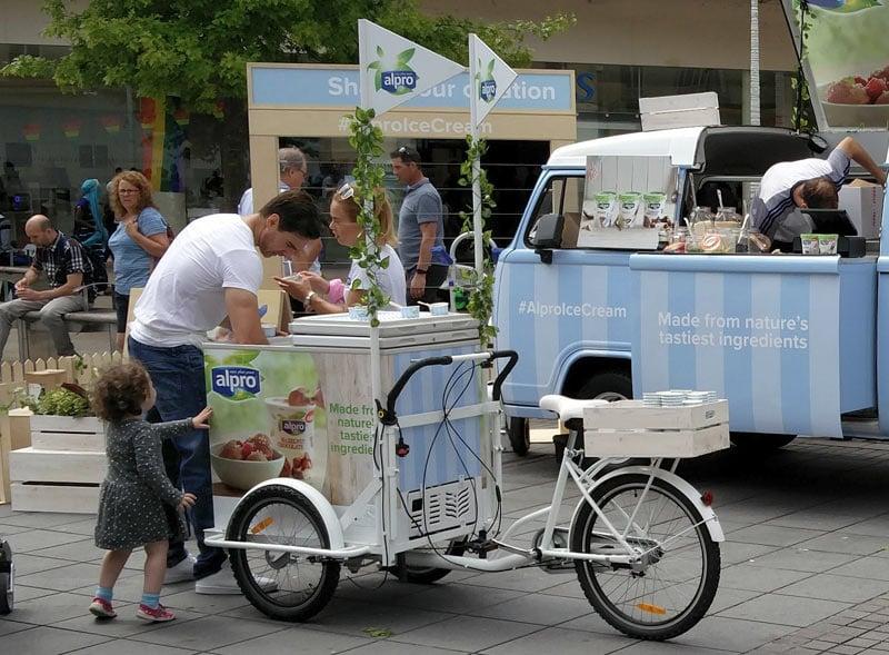 Alpro Promotional Bike Outdoor Activation
