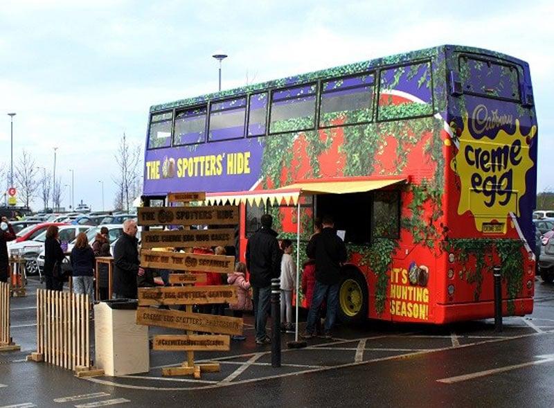 Cadbury Creme Egg Bus UK Tour