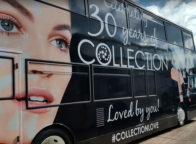Collection 30 Year Anniversary Double Decker Bus Campaign