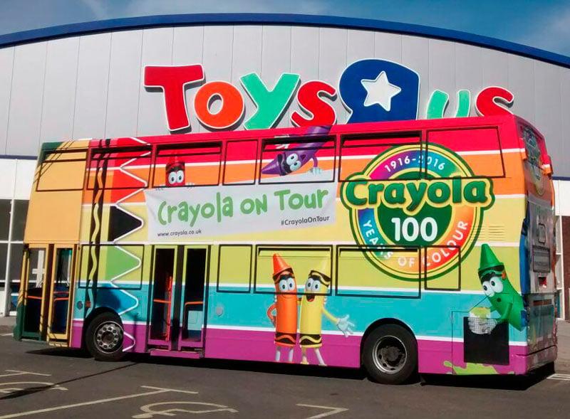 Crayola Toys R Us Double Decker Bus Activation
