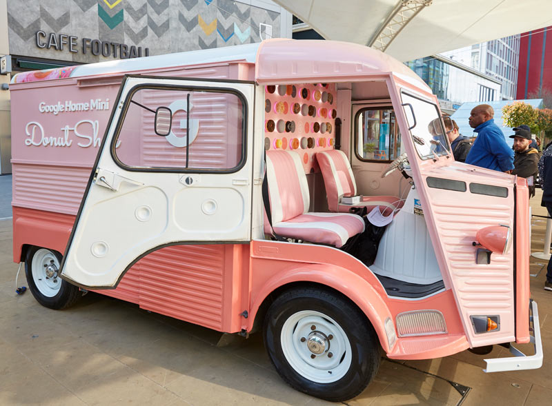 Google Citroën H Van hire with branded wrap