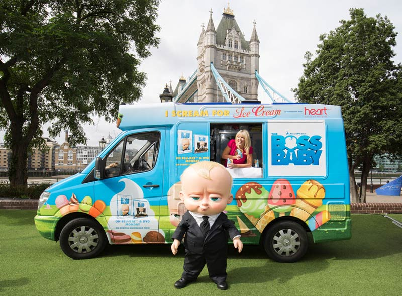 Boss Baby Ice Cream Van Hire