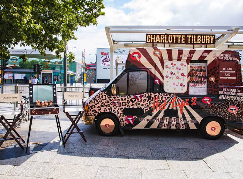 Charlotte Tilbury Ice Cream Van Hire