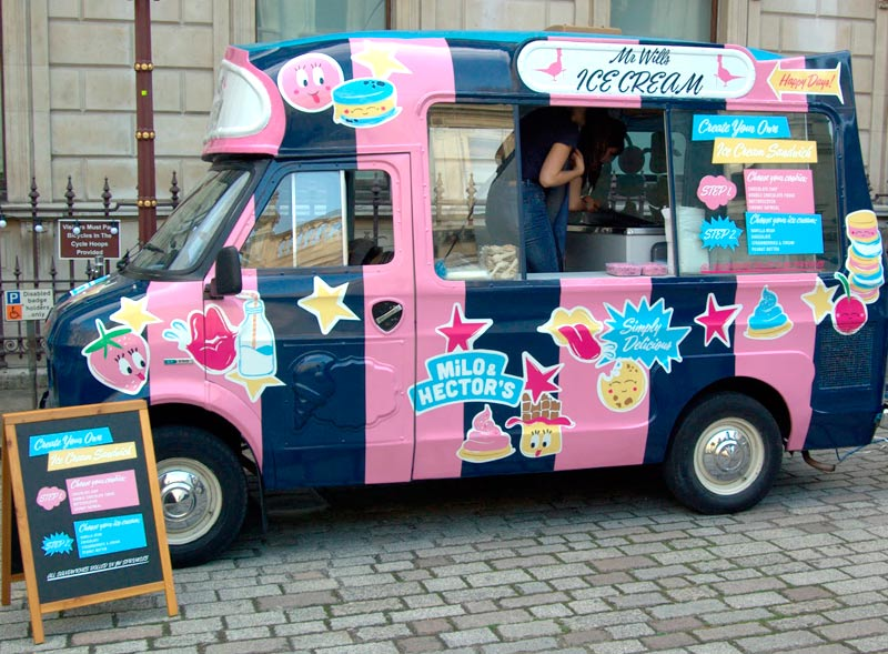 Jack Wills Ice Cream Van Hire