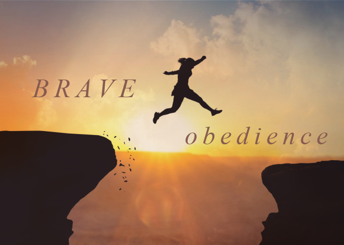 Brave Obedience   August Monthly Blog