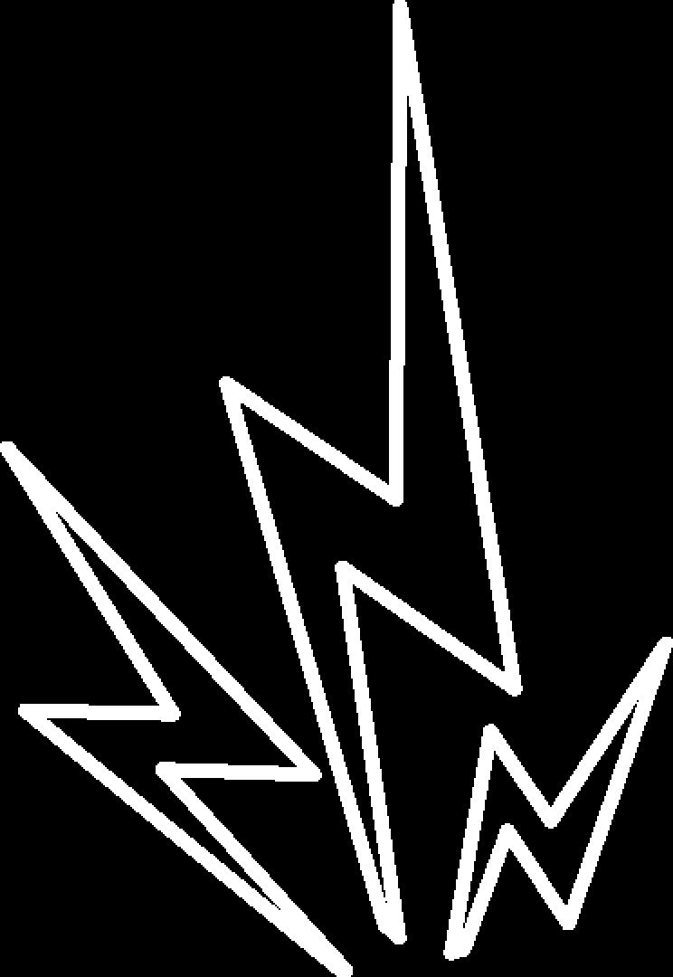 LIghtning speed icon white