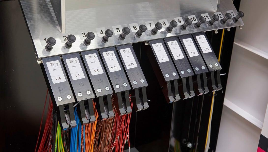 Rittal Wire Terminal machine magazine holding wires