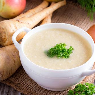 Spruiten-pastinaak soep
