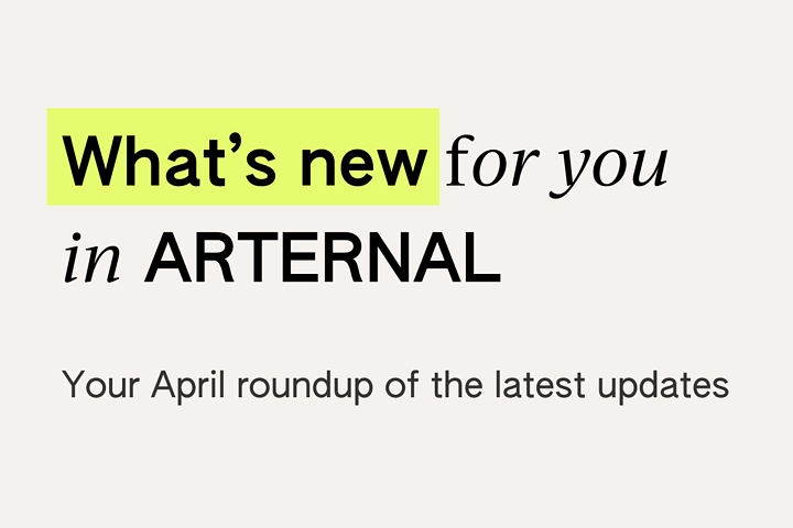ARTERNAL April Roundup - Merge Contact and Reporting and more