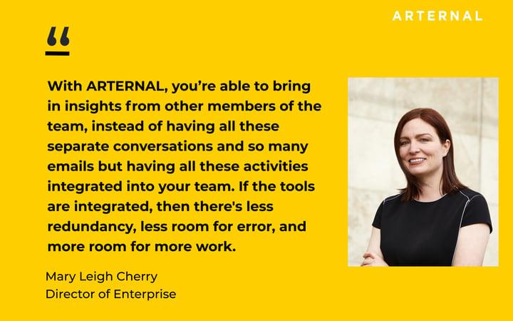 Mary Leigh Cherry Joins Arternal Leadership Team (Transcript With Video)