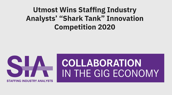 "Utmost Wins Staffing Industry Analysts' ""Shark Tank"" Innovation Competition"