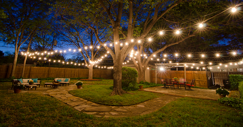 Learn more about interesting backyard lighting ideas.