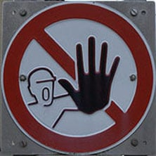 do not do sign