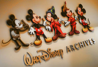 walt disney archives wall lettering