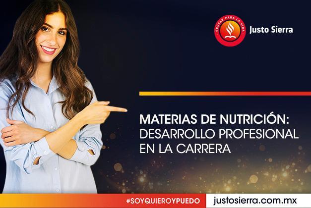 Materias de nutrición: Desarrollo profesional en la carrera