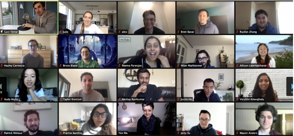 Our team had a blast during a virtual magic show with the talented Gary Ferrar