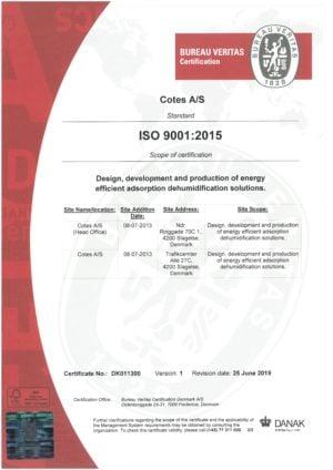 ISO 9001-2015 COTES AS-1
