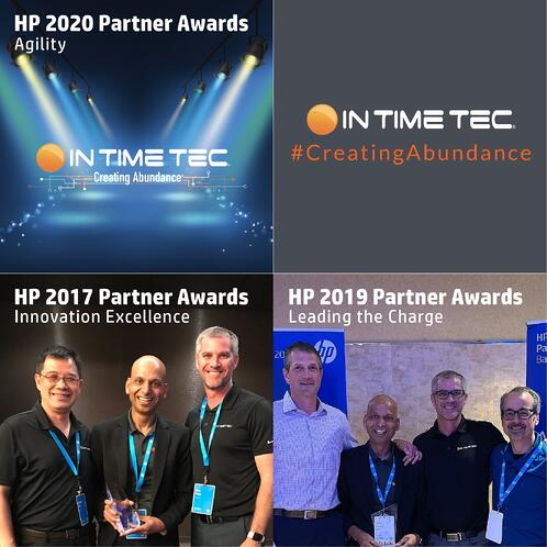 In Time Tec Honored with HP Inc. Agility Award