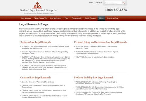 NLRG Legal Research blogs