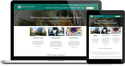 Dean & Draper's Modernized Website Redesign Maintains Domain Authority