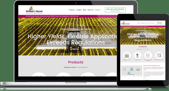 Grower's Secret Blossoms with Website Overhaul