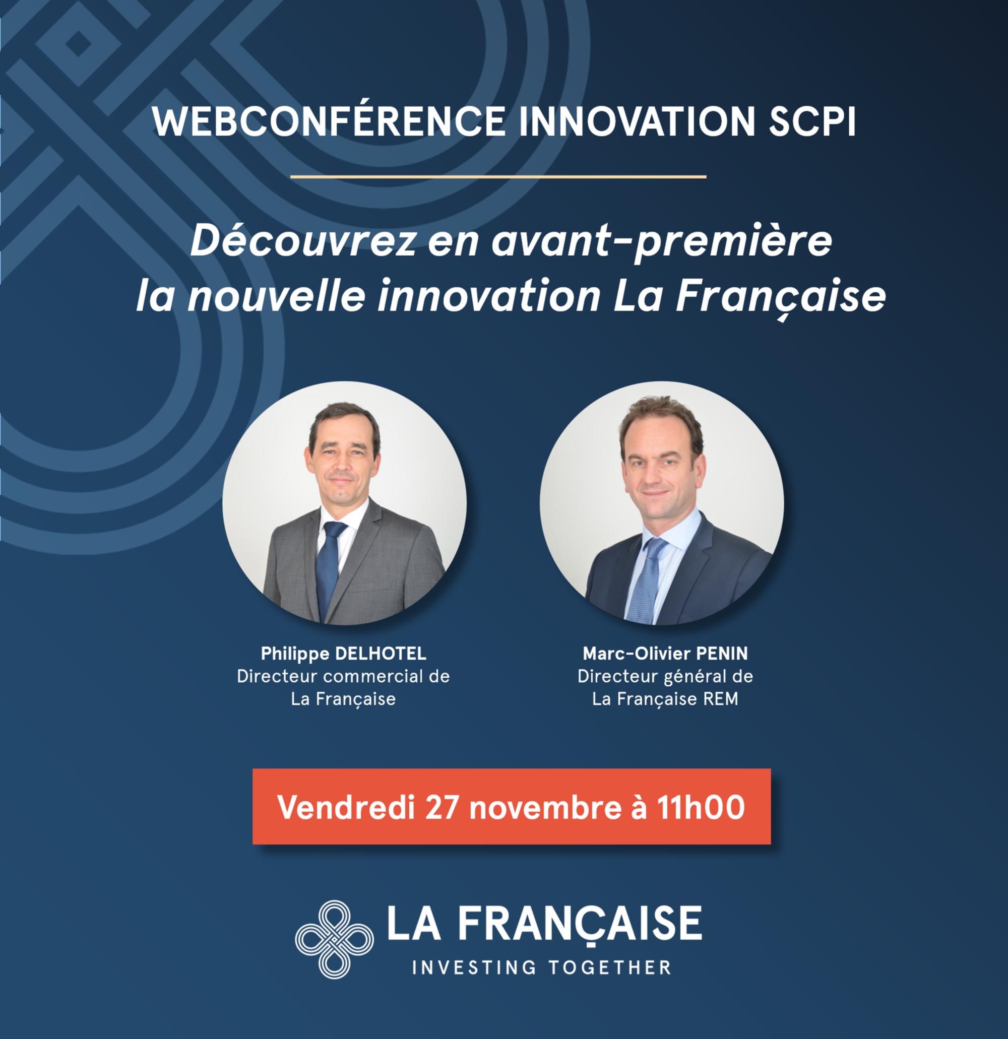 Webconference - découvrez en avant-première la nouvelle innovationSCPI La Française