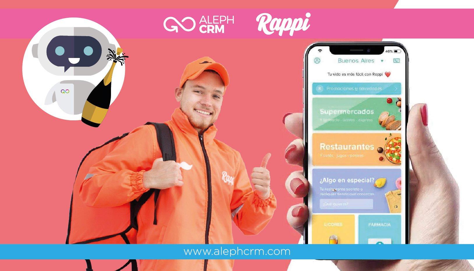 AlephCRM y Rappi, una alianza que promete el crecimiento del comercio electrónico de última milla