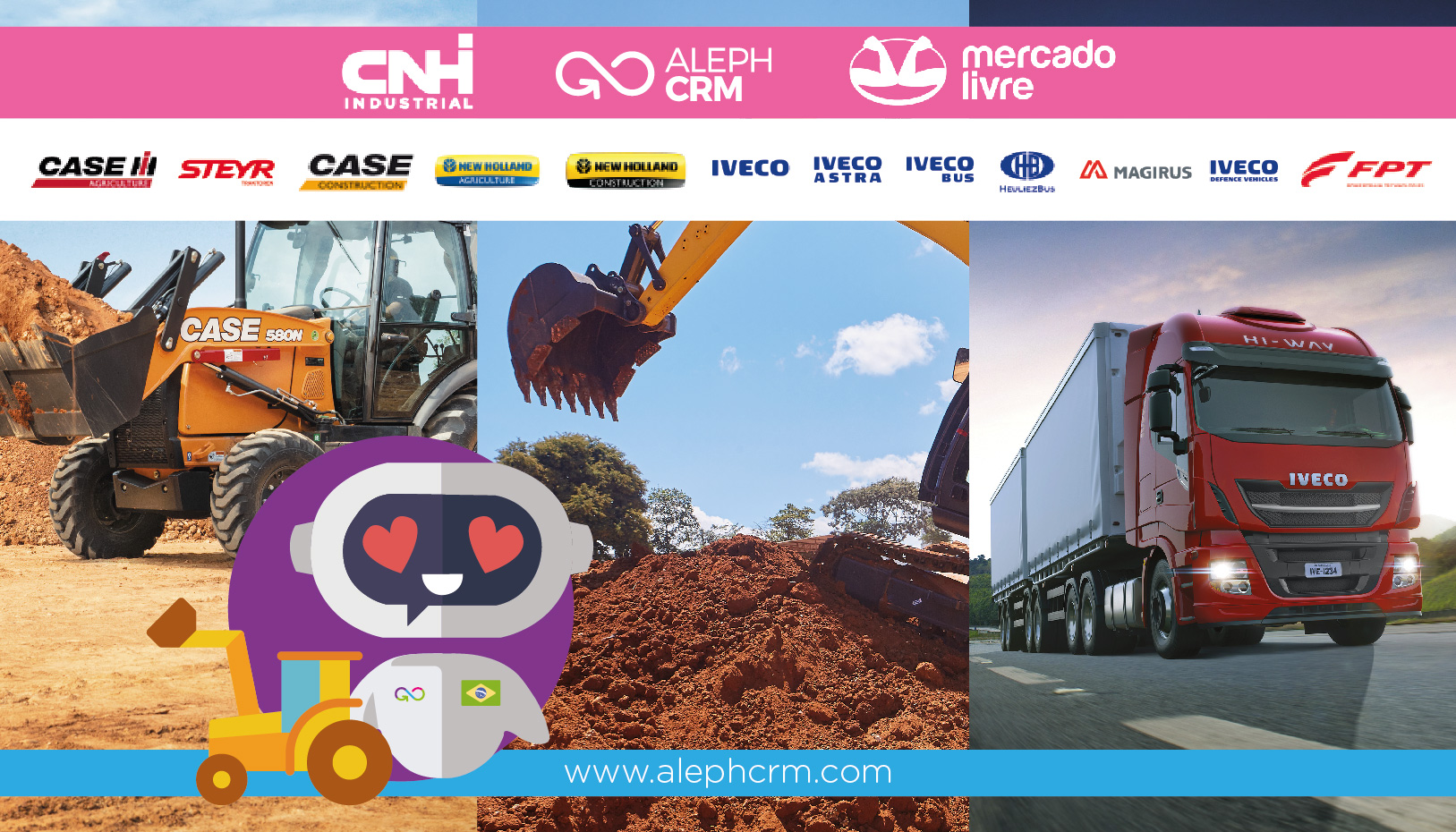 CNH Industrial, AlephCRM and Mercado Libre, starts engines towards electronic commerce