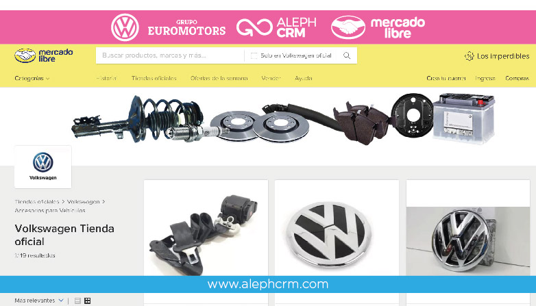 AlephCRM llega a Perú de la mano de Volkswagen y su tienda oficial