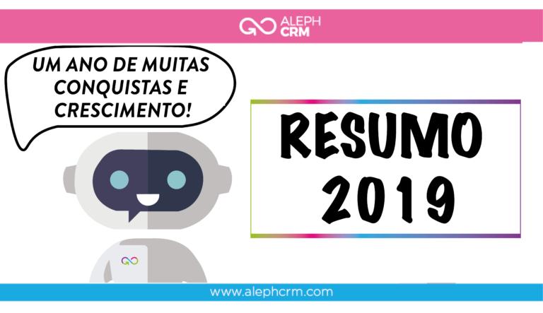 Resumo de 2019 por AlephCRM