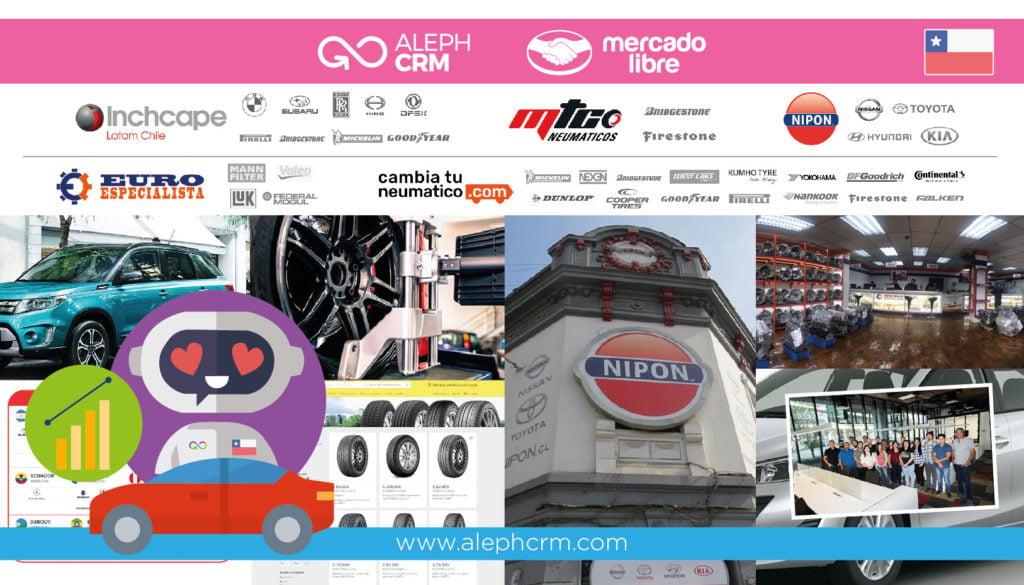 Florece en Chile la transformación digital de la industria automotriz junto a AlephCRM y Mercado Libre
