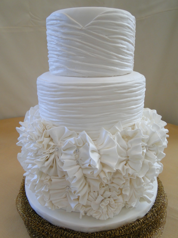 the ruffle wedding dress cake is complete and i m excited to finally