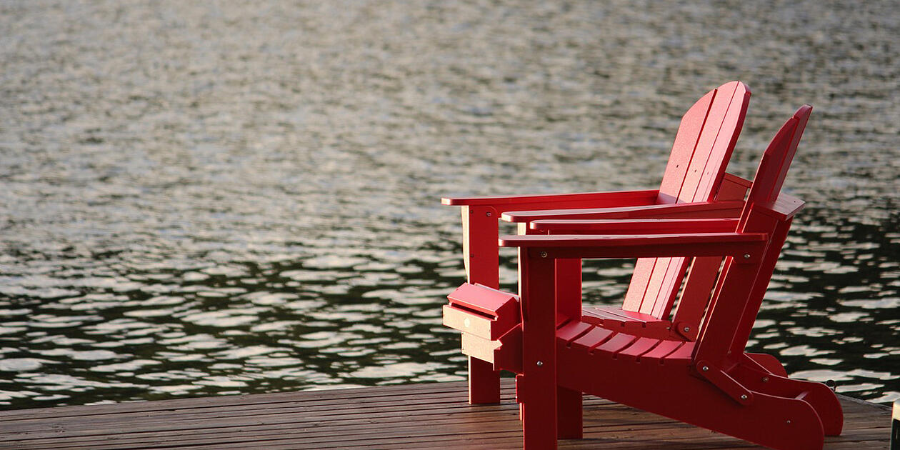 chair next to water