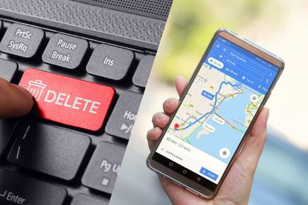 【Android編】グーグルマップの履歴を全てスッキリ削除する方法