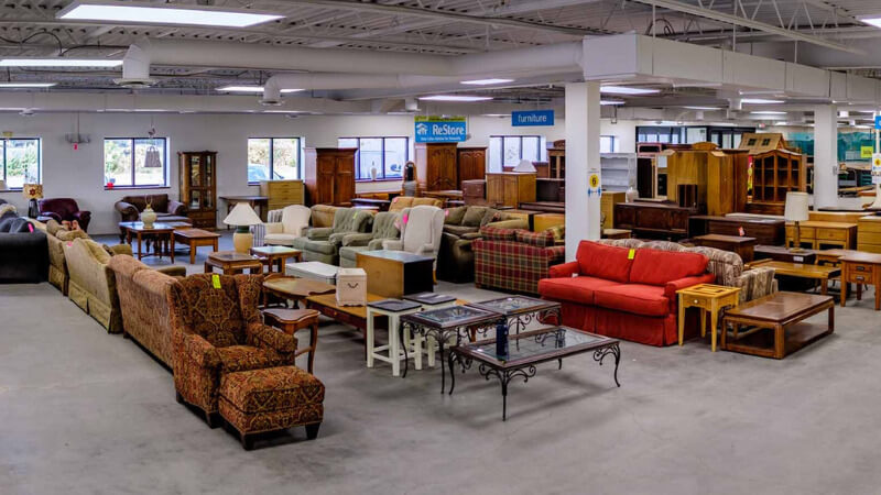 A view inside the ReStore showroom in New Brighton, MN.