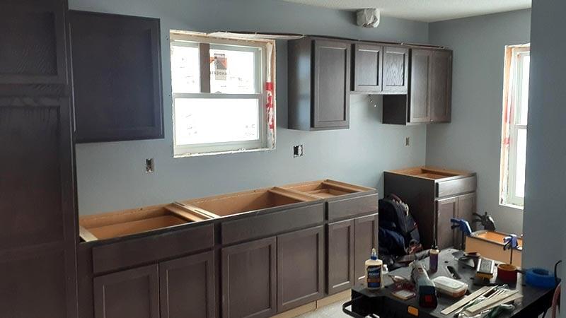 The in-progress kitchen.