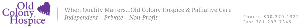 Old Colony Hospice Homepage Banner