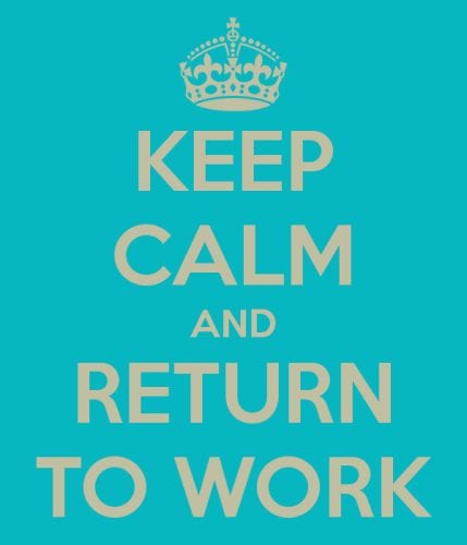 RETURNING TO WORK AFTER COVID-19