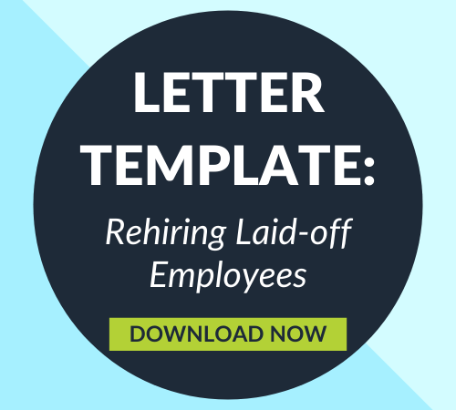 Rehiring Laid-off Employees Letter Template