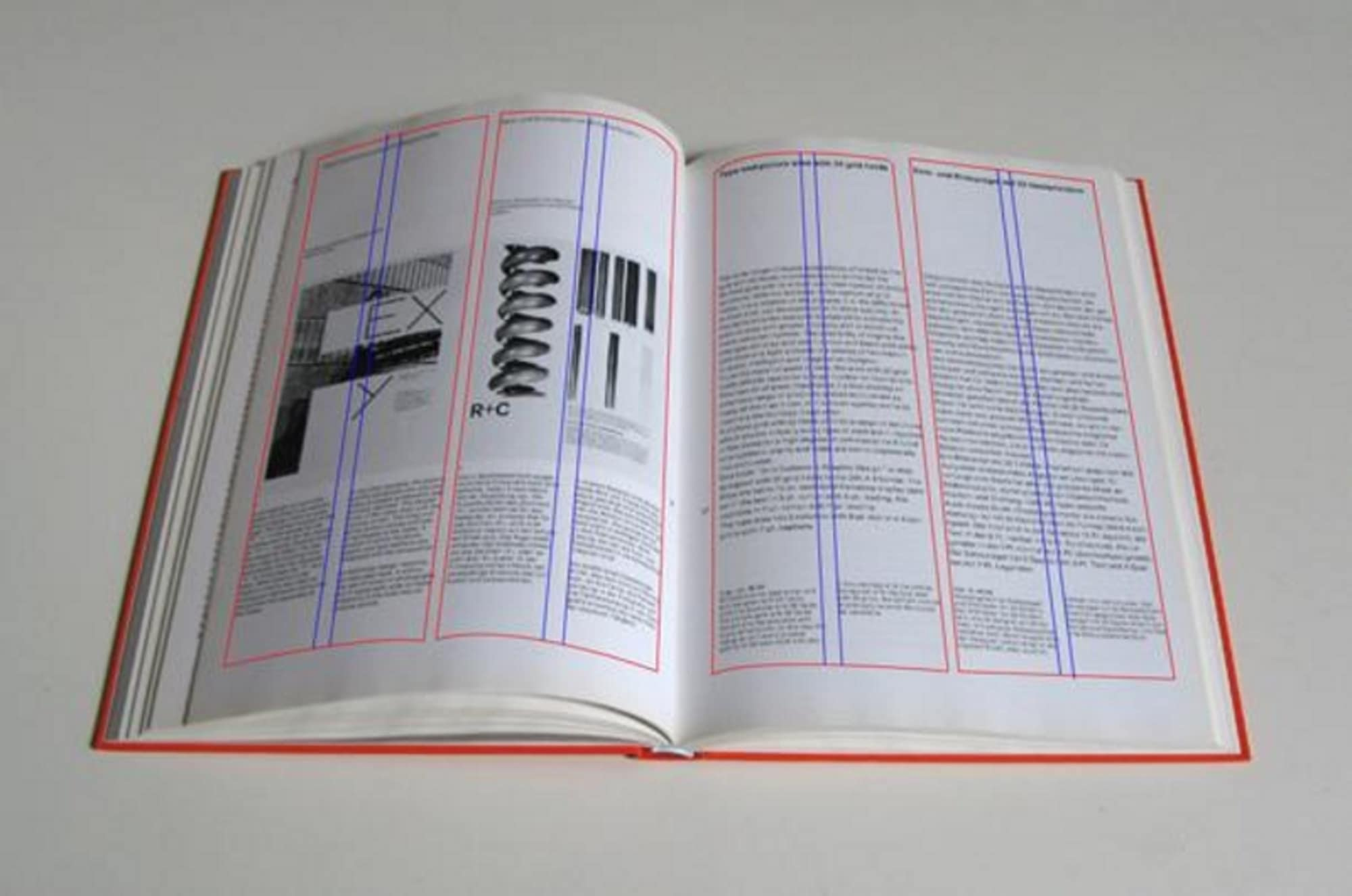 Image shows a grid on a book illustrating the pages and how it makes it easier for people to read