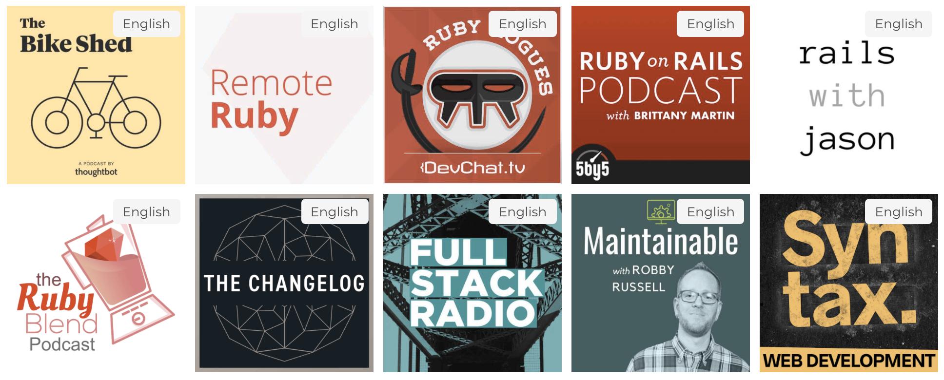 Top 10 Technical Podcasts Rails Survey 2020