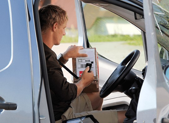 Drive Reach OTR Fleet courier scanning package
