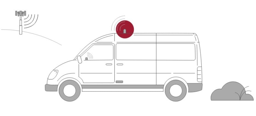 fleet field service vehicle illustration