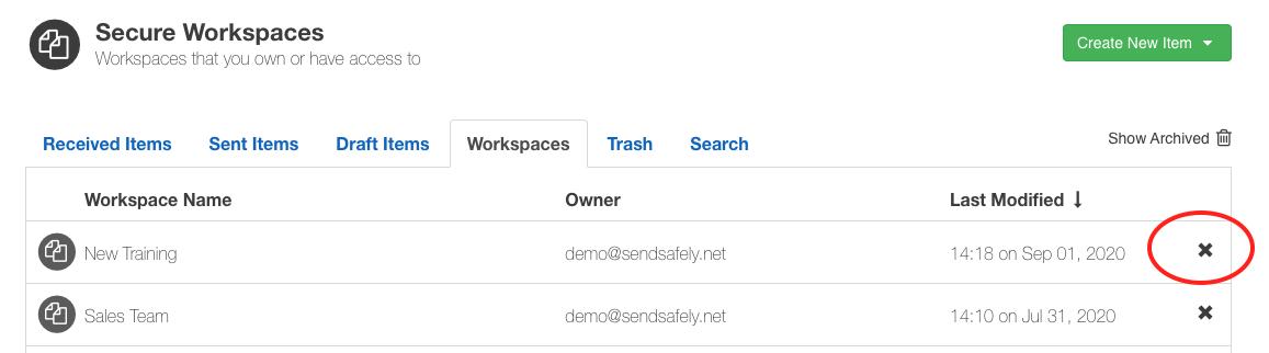 Archive Workspaces 1