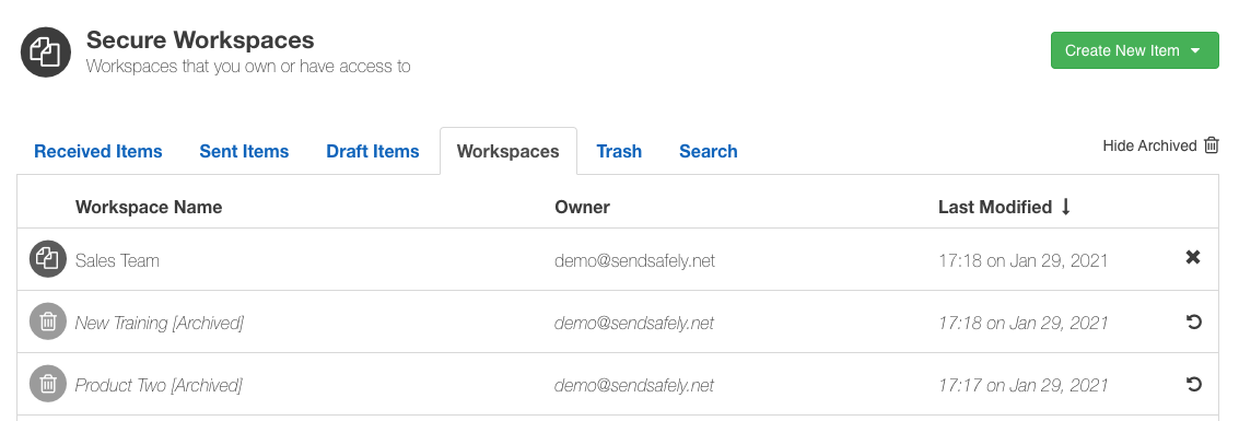 Archive Workspaces 2